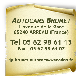 Adresse Transport Autocars Brunet
